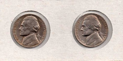 1979 p,d Jefferson Nickel