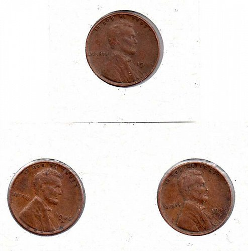 1946 p,d,s Lincoln Wheat Pennies        #1