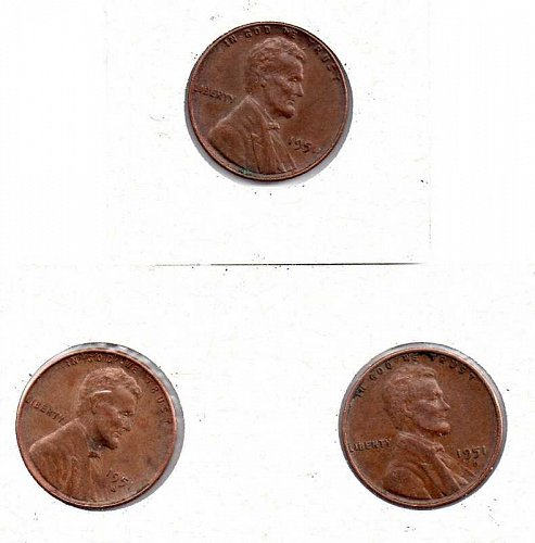 1951 p,d,s Lincoln Wheat Pennies