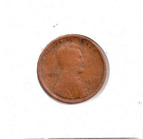 1916 p Lincoln Wheat Penny