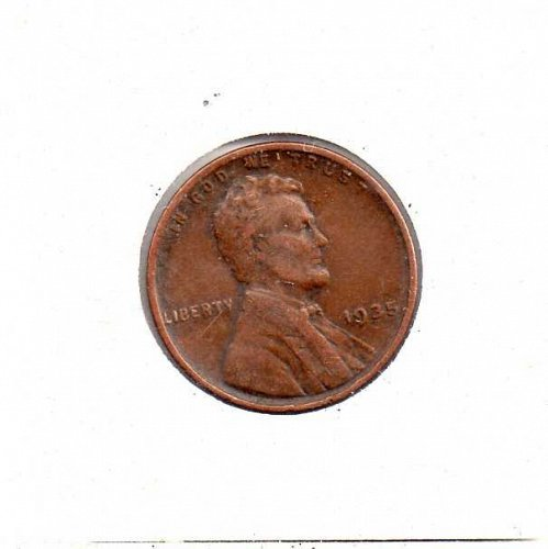 1935 p Lincoln Wheat Penny