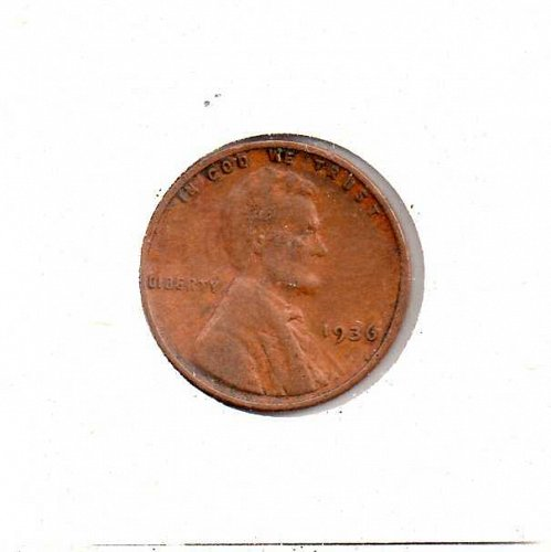 1936 p Lincoln Wheat Penny