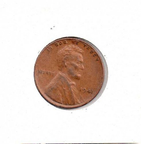 1941 p Lincoln Wheat Penny -5