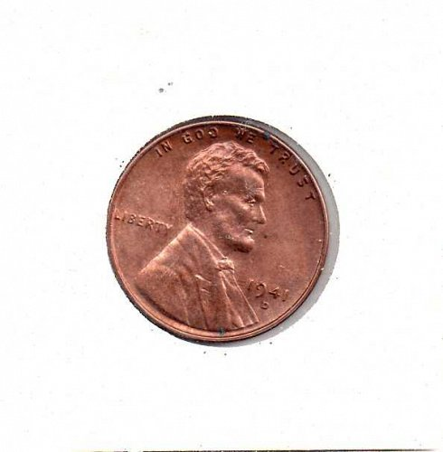 1941 d Lincoln Wheat Penny
