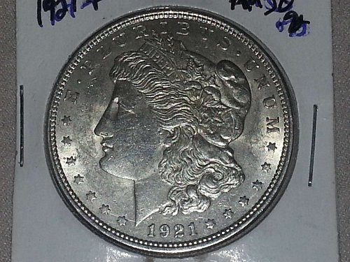 1921 P Morgan Silver Dollar BU CHOICE PQ Coin