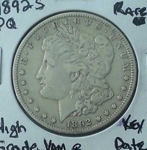 1892 S Morgan Silver Dollar Rare Key Date XF45 with AU Details