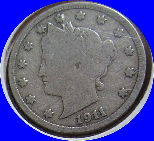 1911 P Liberty Nickel  Very Good to Fine