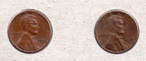 1958 p,d Lincoln Wheat Pennies