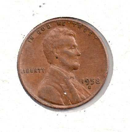 1958 d Lincoln Wheat Penny