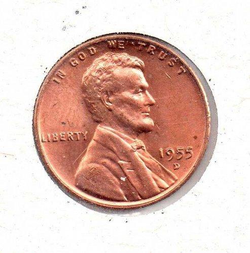 1955 d BU Lincoln Wheat Penny