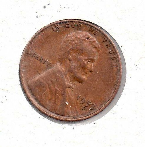 1953 d Lincoln Wheat Penny