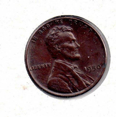 1950 p Lincoln Wheat Penny