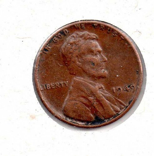 1949 p Lincoln Wheat Penny