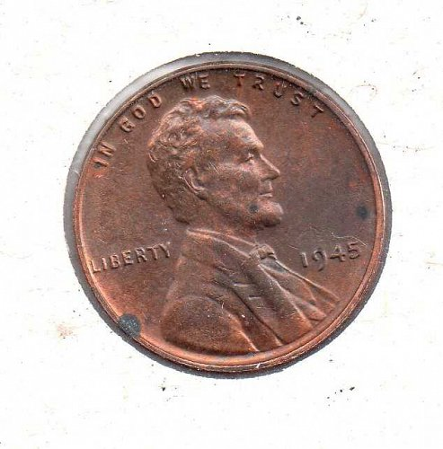1945 p Lincoln Wheat Penny