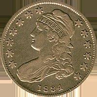 1834 P Liberty Cap Half Dollar