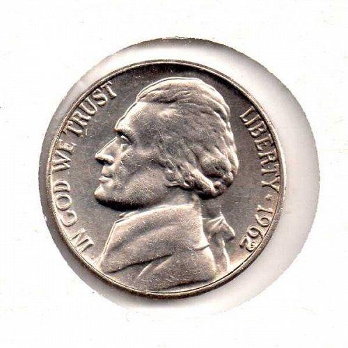 1962 p Jefferson Nickel          #3