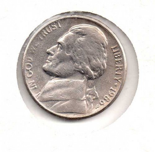 1986 p Jefferson Nickel           #2