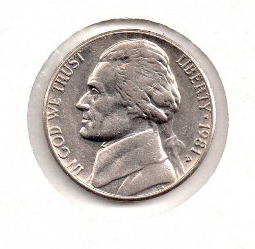 1981 d Jefferson Nickel             #2