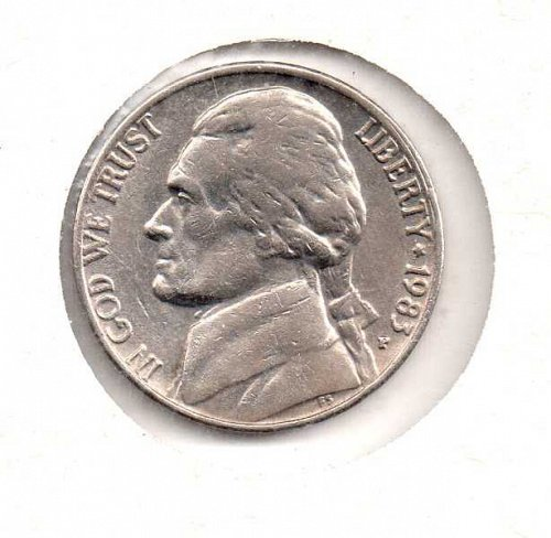 1983 p Jefferson Nickel