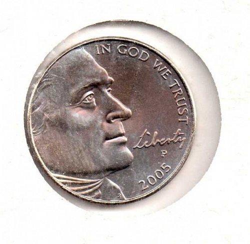 2005 p Jefferson Nickel: Ocean in View