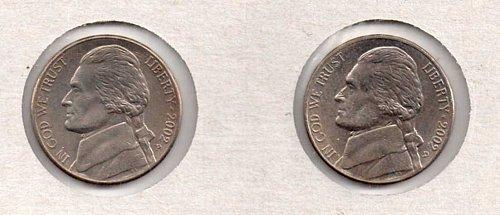 2002 p+d BU Jefferson Nickel