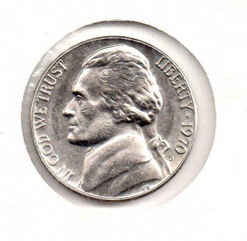 1970 d Jefferson Nickel              #2
