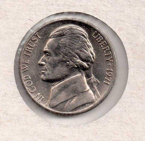 1971 p Jefferson Nickel #1