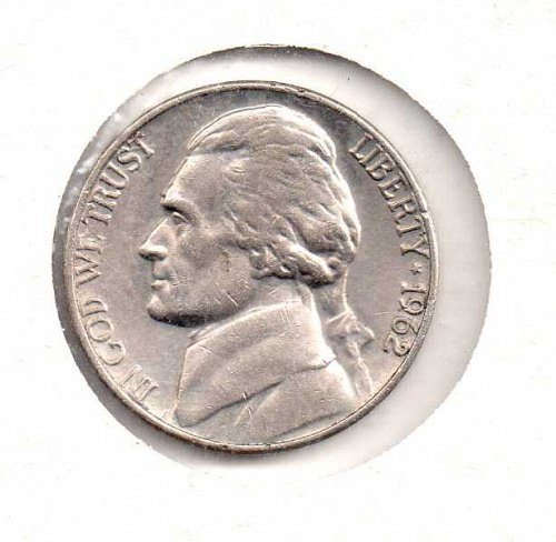 1962 p Jefferson Nickel #4