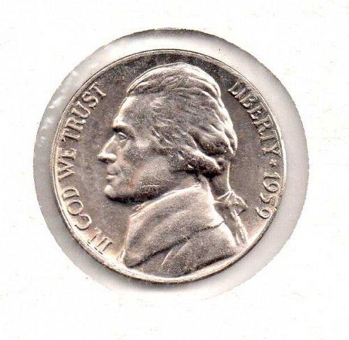 1959 d Jefferson Nickel #2