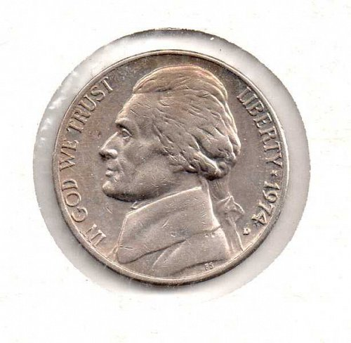 1974 d Jefferson Nickel