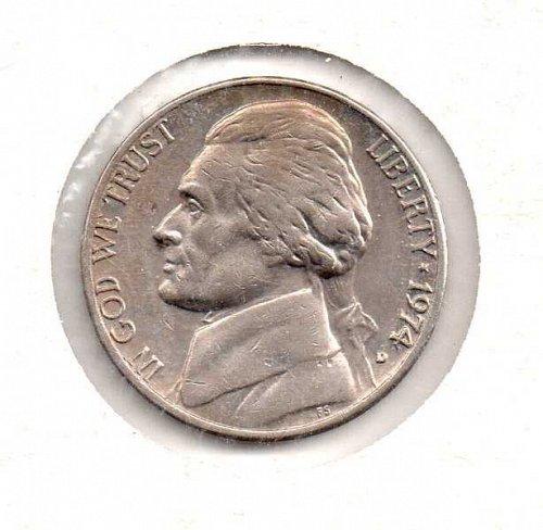 1974 d Jefferson Nickel