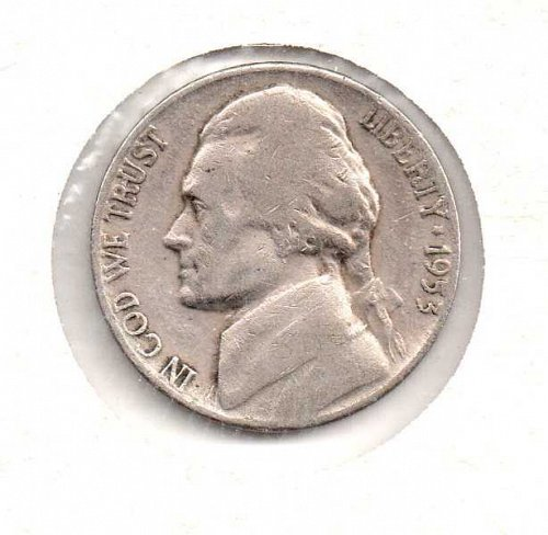 1953 d Jefferson Nickel