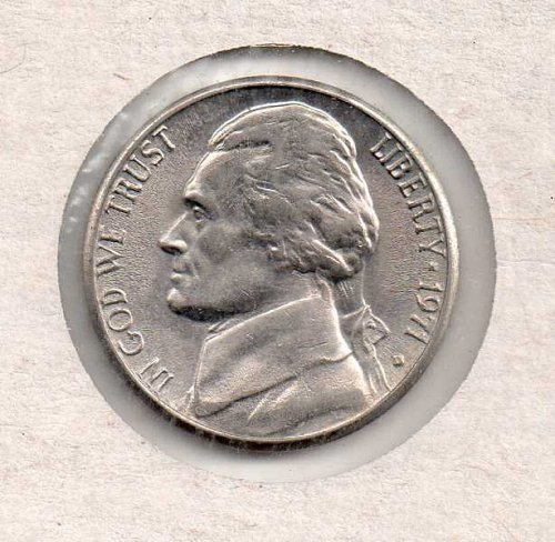1971 d Jefferson Nickel #2