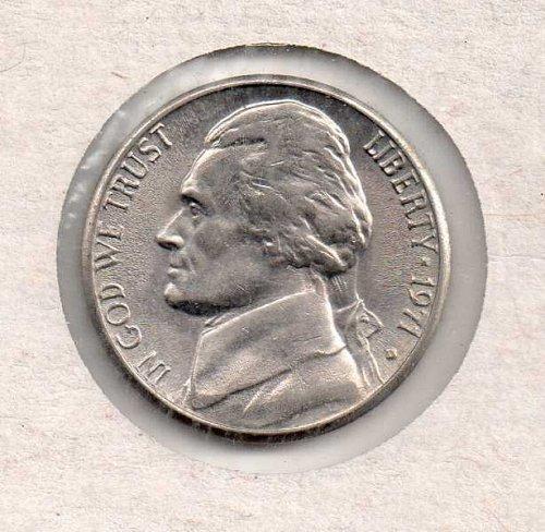 1971 d Jefferson Nickel #2