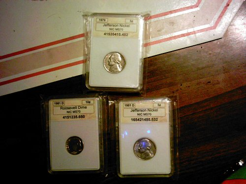 MS - 70  ( 3 Coin Lot )