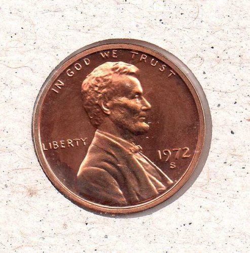 1972 s Lincoln Memorial Penny - Tear - Proof