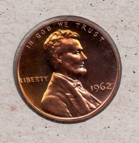 1962 p Lincoln Memorial Penny - Proof - #1