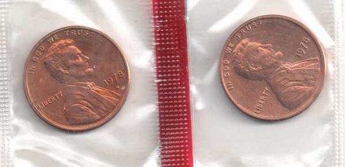 1978 p,d Lincoln Memorial Penny