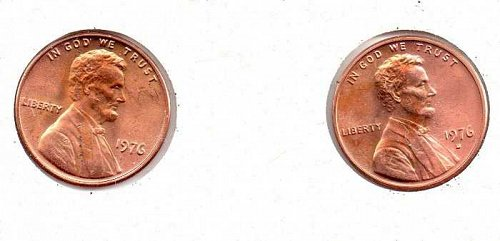 1976 p,d Lincoln Memorial Cent