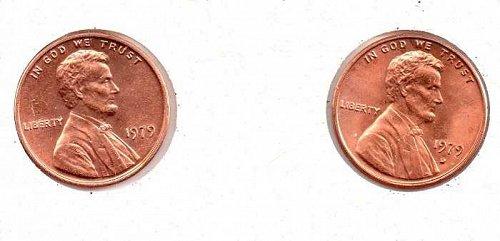 1979 p,d Lincoln Memorial Penny