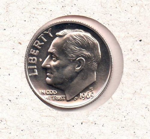 1969 s Roosevelt Dime - Proof - #2