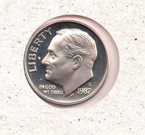 1987 s Roosevelt Dime - Proof - #1