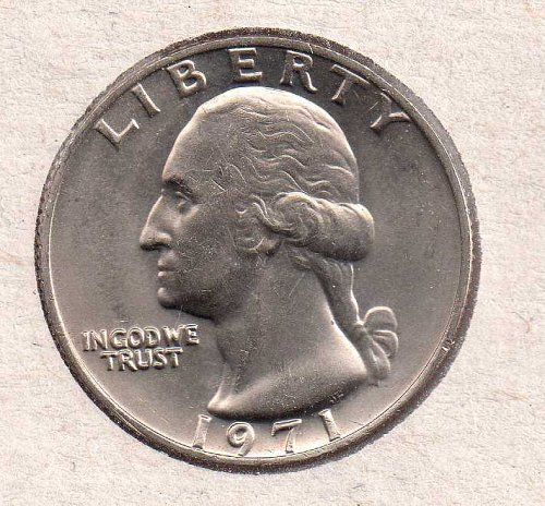 1971 p Washington Quarters - BU - #1