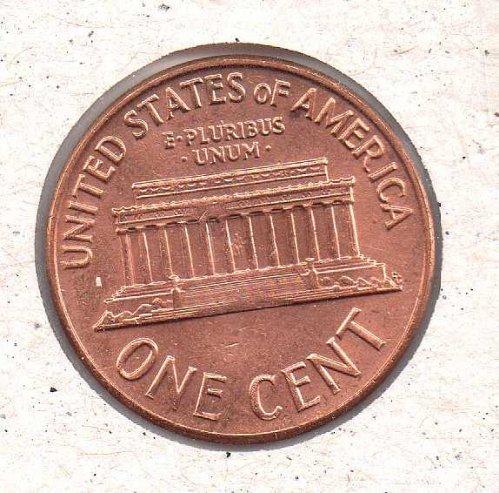 1964 d Lincoln Memorial Penny - BU - #1