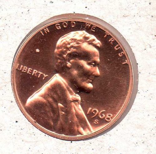 1968 s Lincoln Memorial Penny - Proof - #1