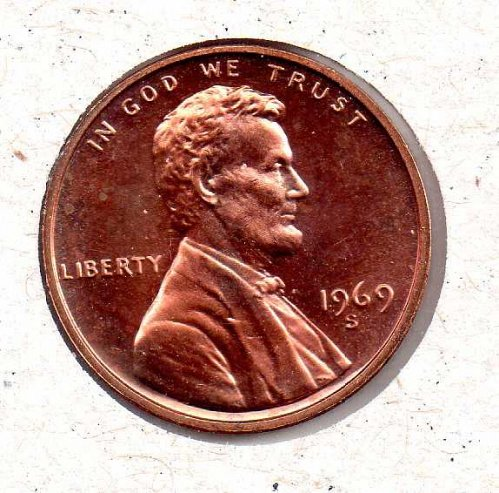 1969 s Lincoln Memorial Penny - Proof - #2