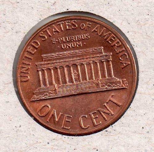 1973 d Lincoln Memorial Penny - UNC - #2