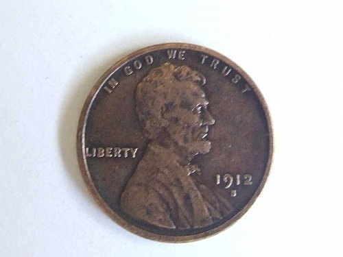 1912 S Lincoln Wheat Small Cent Nicely Detailed