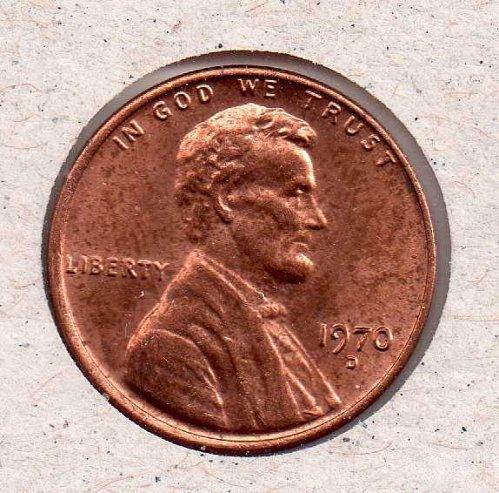 1972 d Lincoln Memorial Penny - UNC - #2
