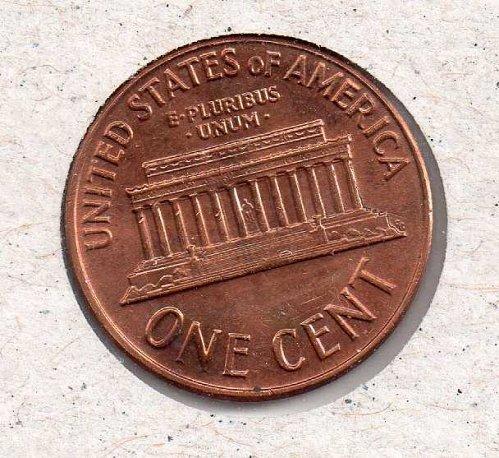 1964 d Lincoln Memorial Penny - UNC - #2